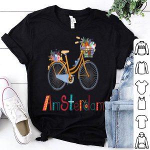 Amsterdam Bike Bicycle City Retro Cycling Tee shirt