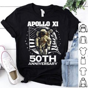 Apollo 11 50th Anniversary Space Lunar American Flag shirt
