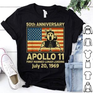 Apollo 11 American Flag 50th Anniversary Moon Landing shirt