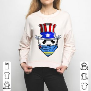 Aruban Panda Bear In Aruba Bandana Flag shirt