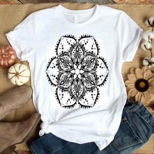 Black Lotus Flower Mandala Peace Hippie Tattoo shirt