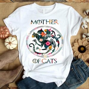 Cat Lovers - Mother Of Cats Mix Flower shirt