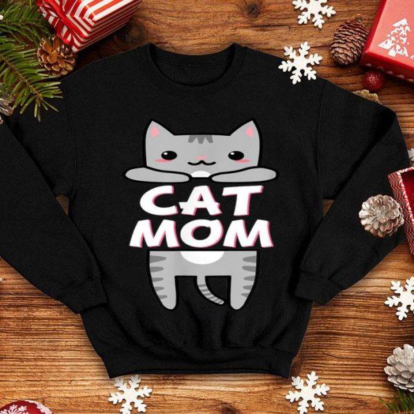 Cat Mom Kawaii Grey Tabby Kitty Cute shirt