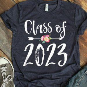 Class Of 2023 Arrow Flowers For Girls Women shirt