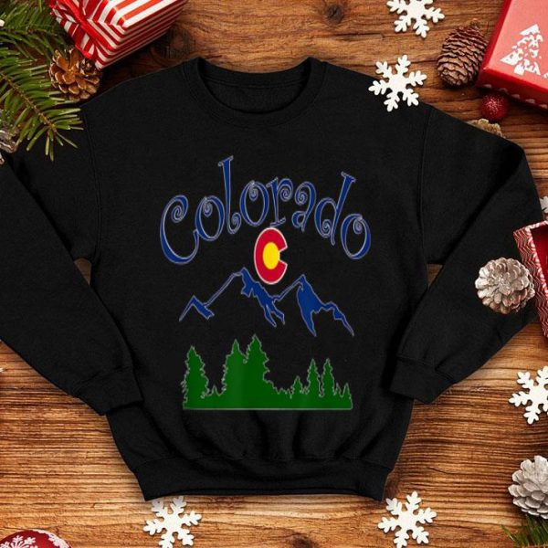 Colorado Mountains With State Logo By Mortal Designs shirt