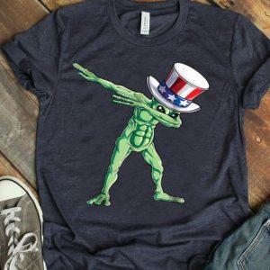 Dabbing Uncle Sam Alien 4th Of July Kids Boys Us shirt