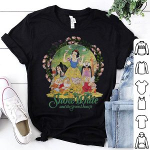 Disney Snow White Main Cast Flower Ring Graphic shirt