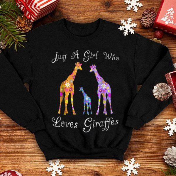 Giraffes For Girls - Cute Floral shirt