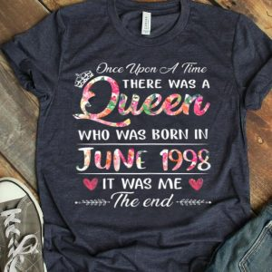 Girls 21st Birthday Queen June 1998 21 Years Old shirt