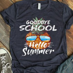 Goodbye School Hello Summer Last Day Of School Pineapple shirt