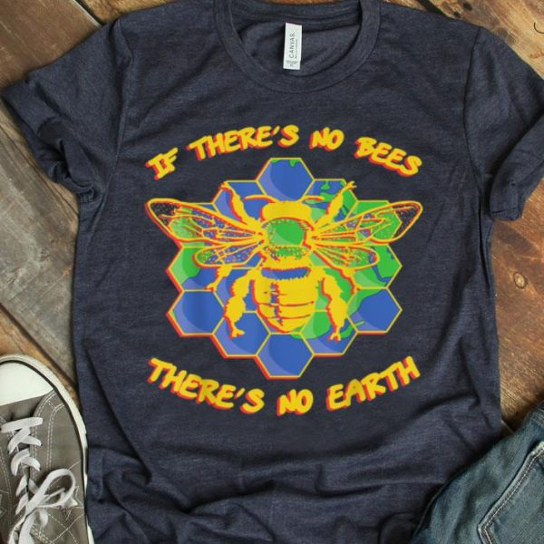 If Theres No Bees Theres No Earth Beekeeper Earth Day shirt