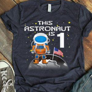 Kids 1st Birthday Astronaut One Step Boys 1 Year Old shirt