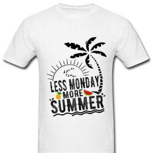 Less Monday More Summer Beach Pineapple Watermelon Party Premium shirt