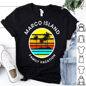 Marco Island Florida Family Vacation Sunset Palm Trees shirt
