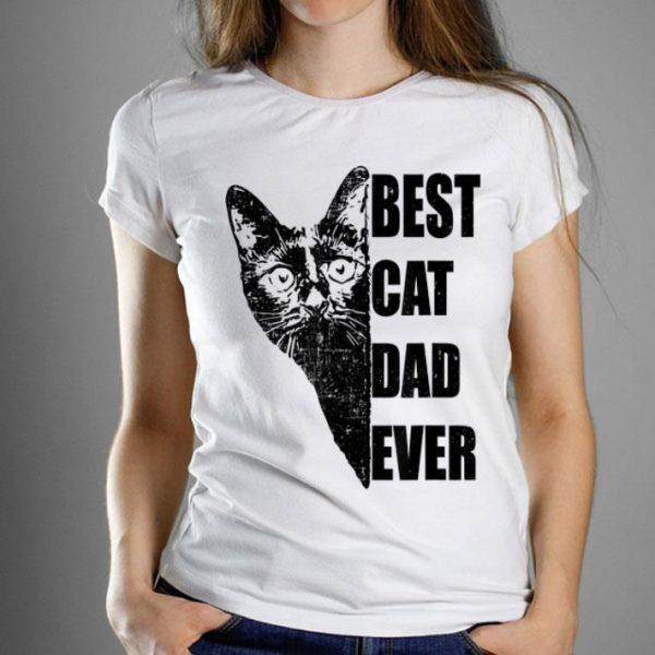 Mens Best Cat Dad Ever Distressed shirt