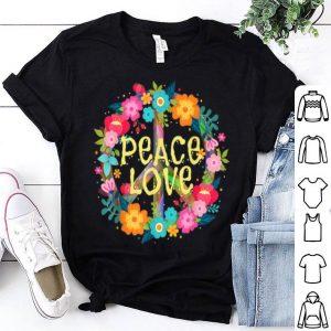 Peace Love Hippie Costume Tie Die 60s 70s shirt