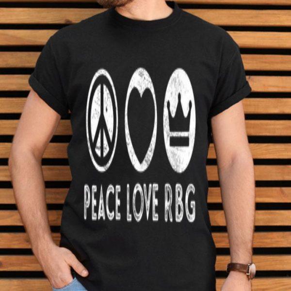 Peace Love RBG Ruth Bader Ginsburgs Peace Sign shirt