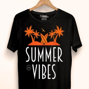 Summer Vibes Palm Trees And Surf Board shirt
