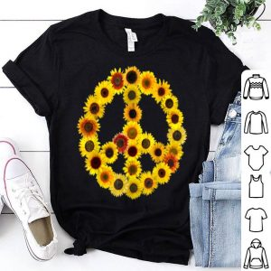 Sunflowers Peace Sign 70s Love And Kindness shirt