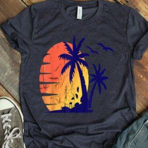 Sunset Beach Palm Tree Funny Summer Vacation shirt