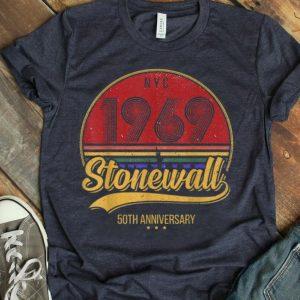 Vintage LGBT Gay Pride 50Th Anniversary Stonewall NYC 1969 shirt