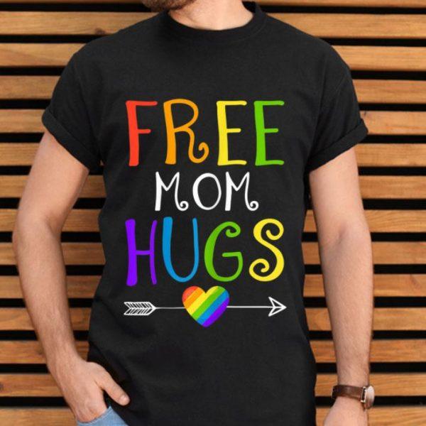 Womens Free Mom Hugs LGBT Pride Mothers Day shirt