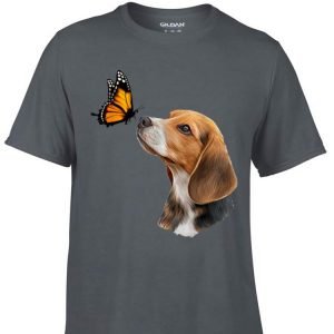 Aweome Beagle With Butterfly shirt