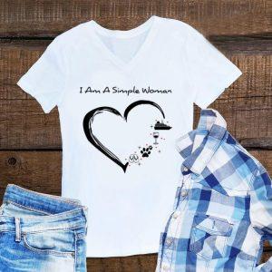 Aweome I am a simple woman cruise wine dog flip flops shirt