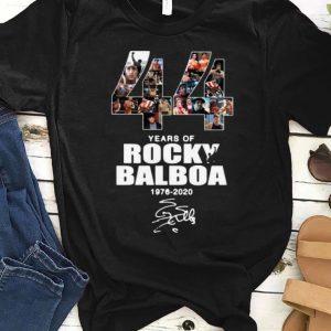 Awesome 44 Years Of Rocky Balboa 1976-2020 signature shirt