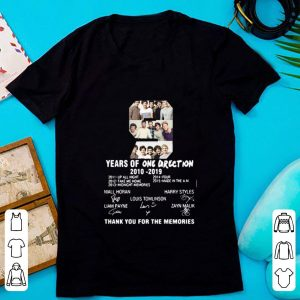 Awesome 9 Years of One Direction thank you for the memories signature shirt