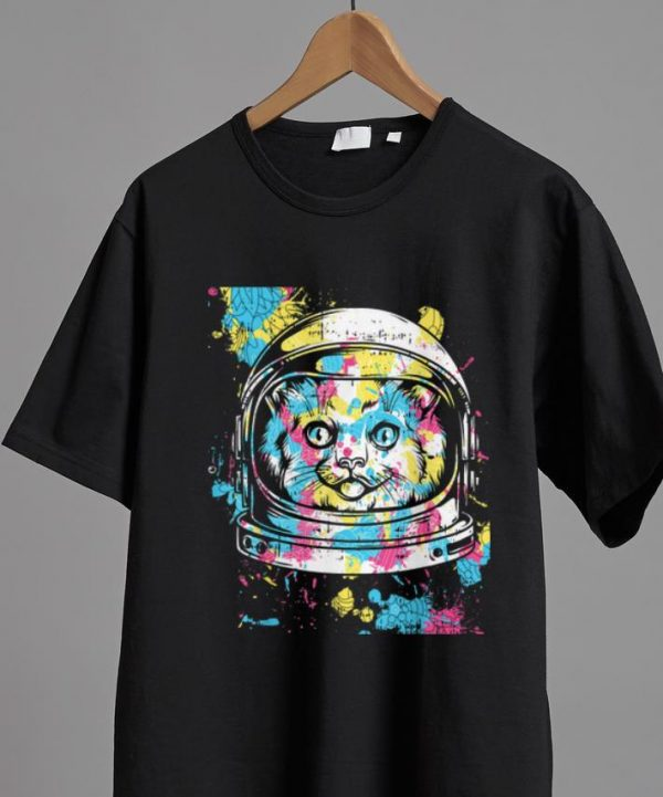 Awesome Astronaut Colorful Cat Costume Cool Easy Halloween Gift shirt