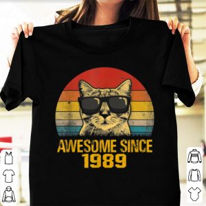 Awesome Cat Awesome Since 1989 Vintage shirt
