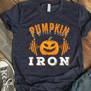Awesome Halloween Gym Workout Pumpkin Iron Motivation Men Workout shirt