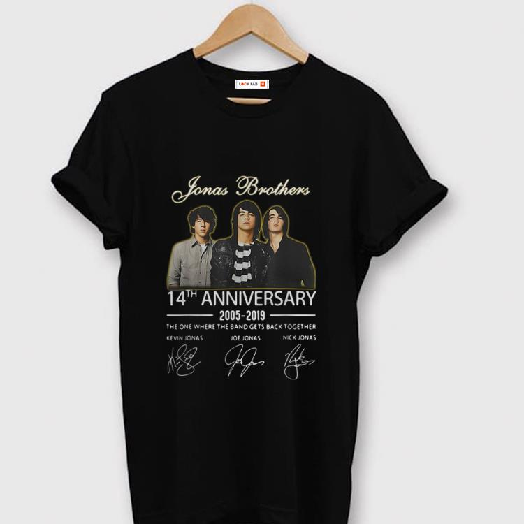 Awesome Jonas Brothers 14th Anniversary Signature shirt 1 - Awesome Jonas Brothers 14th Anniversary Signature shirt