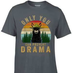Awesome Only you can prevent drama Llama Camping Vintage shirt