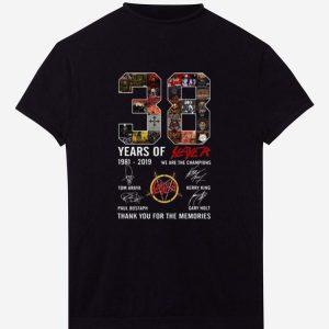 Hot 38 Years Of Slayer 1981-2019 signature shirt