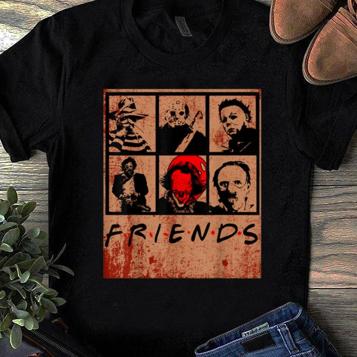 Halloween Friends Shirt.Hot Scary Friends Horror Movie Creepy Halloween Shirt