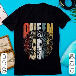 Hot Vintage African American Queen Educated Strong shirt