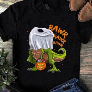 Nice Dinosaur Ghost Halloween Costume Kids Boys Trick Rawr Treat shirt