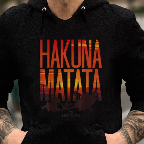 Nice Disney Lion King Hakuna Matata Sunset shirt