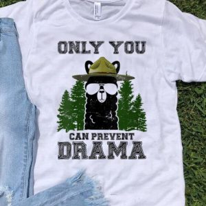 Nice Llama Camping Only You Can Prevent Drama shirt