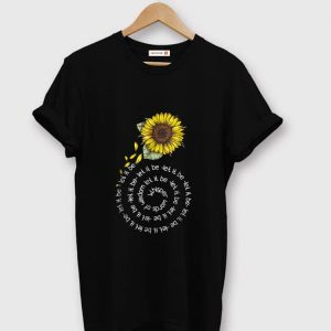 Nice Whisper word of wisdom let it be Sunflower shirt