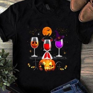 Nice Wine Glass Of Witchcraft Halloween Funny shirt