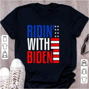Official Joe Biden Riden With President 2020 Election Riding With Biden American Flag shirt