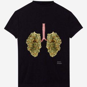 Official Lungs Marijuana Cannabis Buds shirt