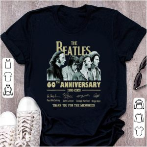 Official The Beatles 60th Anniversary Thank You For Memories Signature shirt