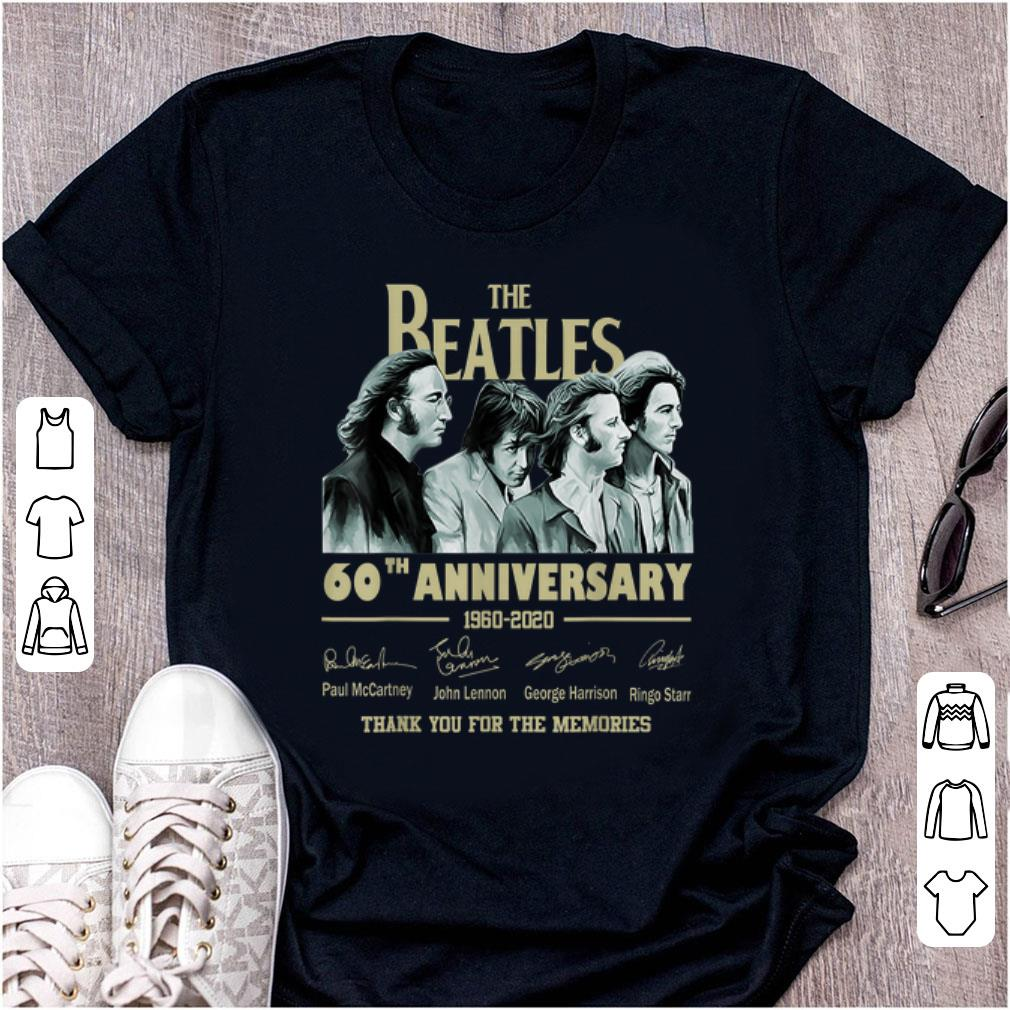 Official The Beatles 60th Anniversary Thank You For Memories Signature shirt 1 - Official The Beatles 60th Anniversary Thank You For Memories Signature shirt