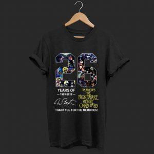 Original 26 Years of Tim Burton's The Nightmare Before Christmas signature shirt
