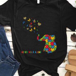 Original Autism Awareness Elephant Never Walk Alone shirt