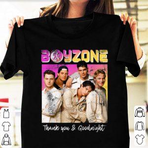 Original Boyzone Thank You & Goodnight 2019 Tour Merchandise shirt